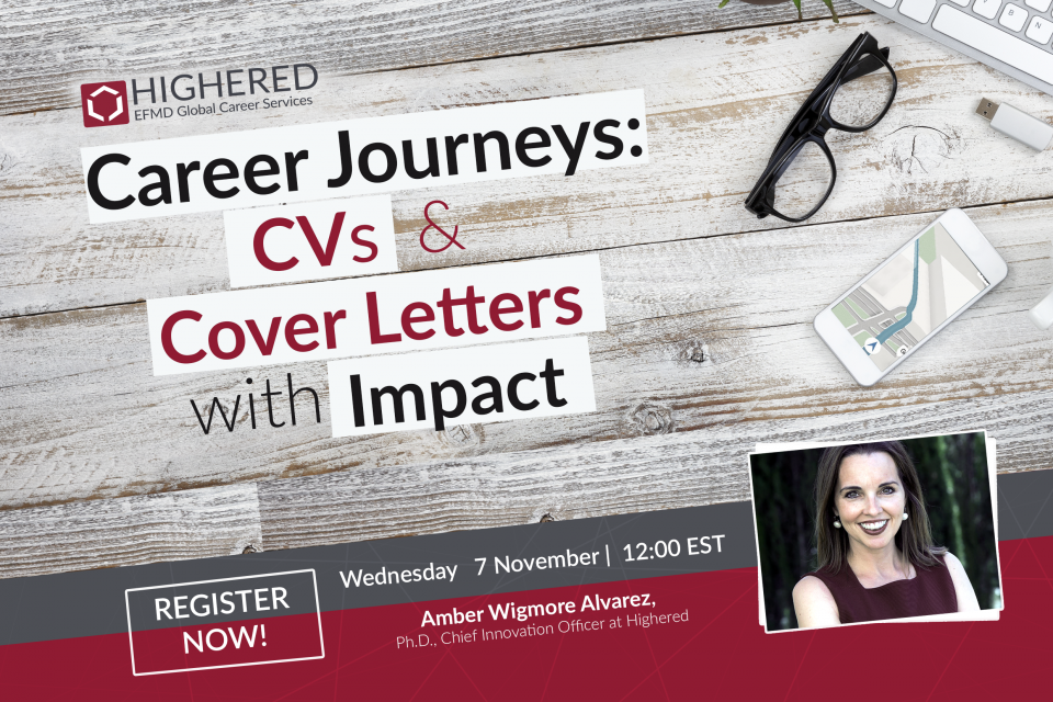 Highered Invites All EFMD Talent To Attend A Career Development Webinar On November 7th 2018