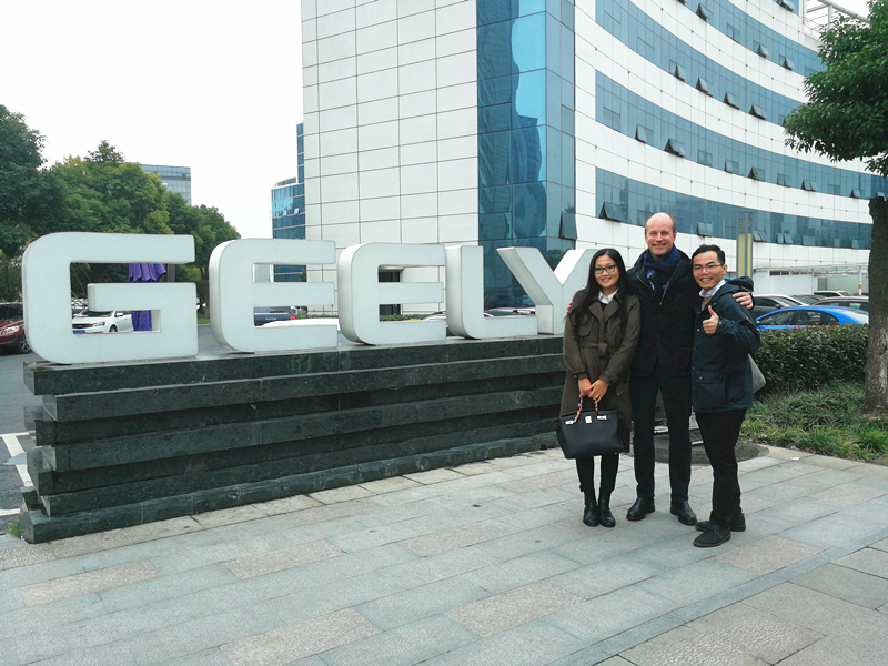The Highered China team visited Geely Headquarters in Hangzhou, China