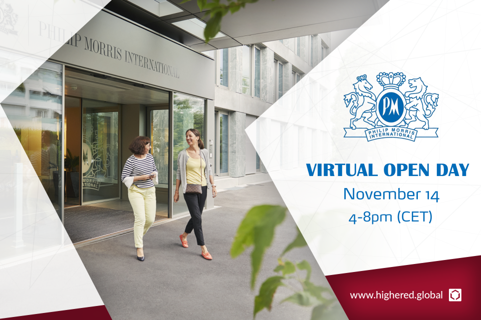 You are invited! Philip Morris International – Virtual Open Day on Nov. 14th
