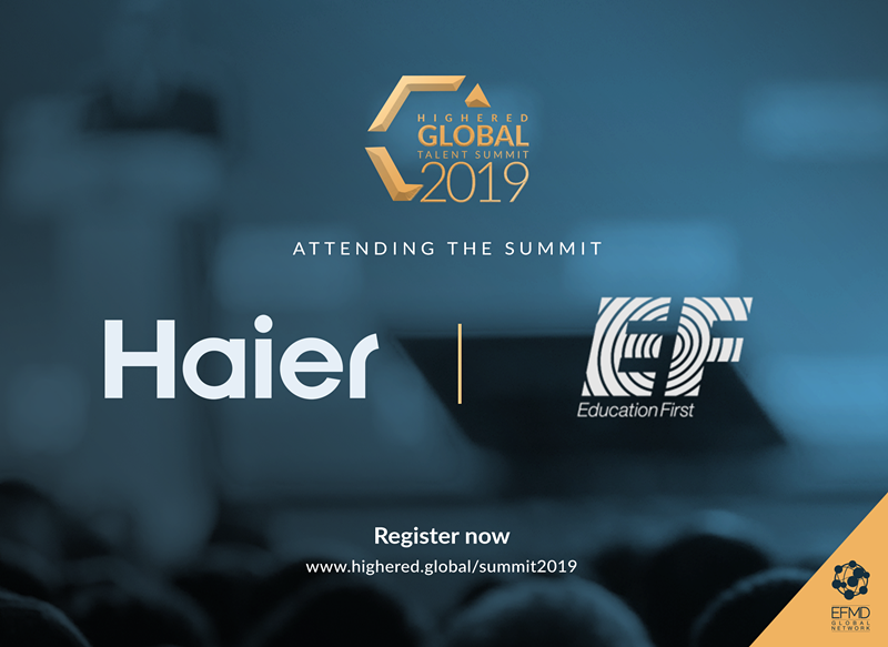 Welcome Haier and EF to the Highered Global Talent Summit