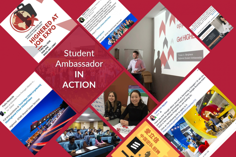Ambassadors in Action: online and offline engagement with students