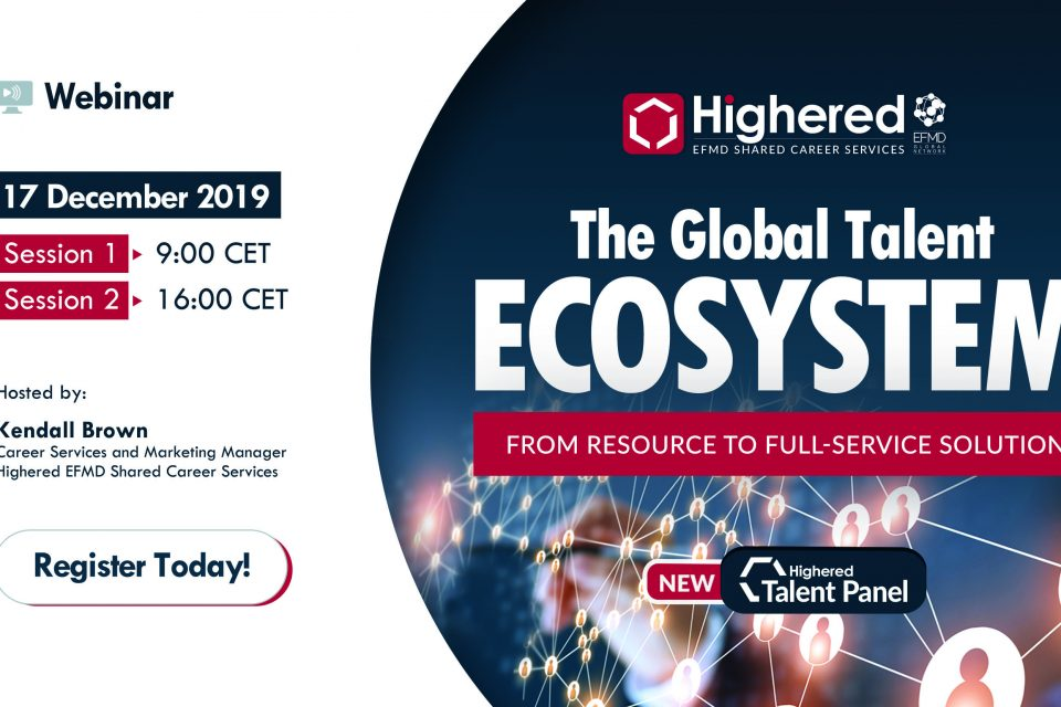 Free webinar: The Highered EFMD Global Talent Ecosystem - December 17