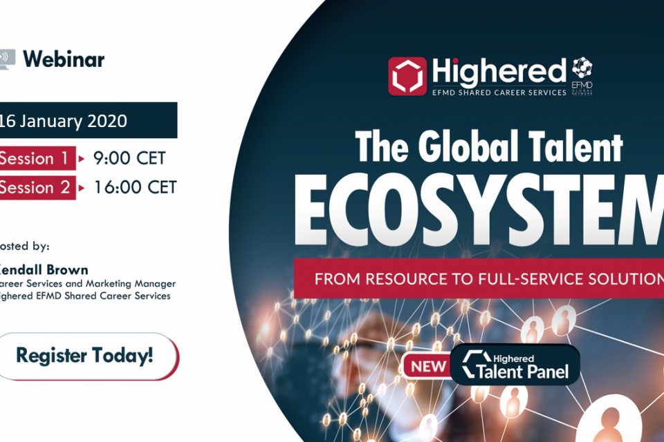 Free webinar: The Highered EFMD Global Talent Ecosystem - January 16