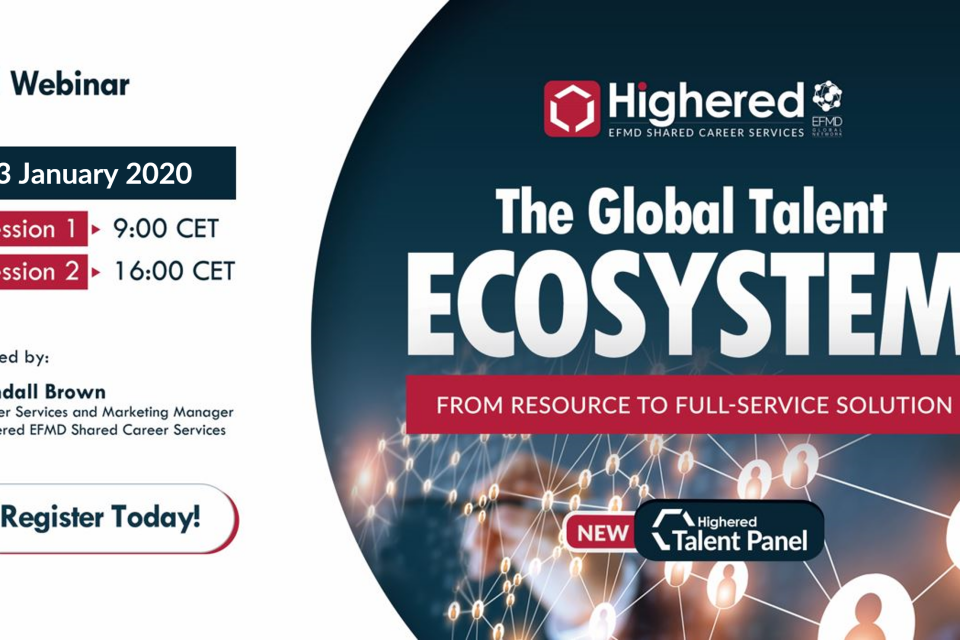 Free webinar: The Highered EFMD Global Talent Ecosystem - January 23